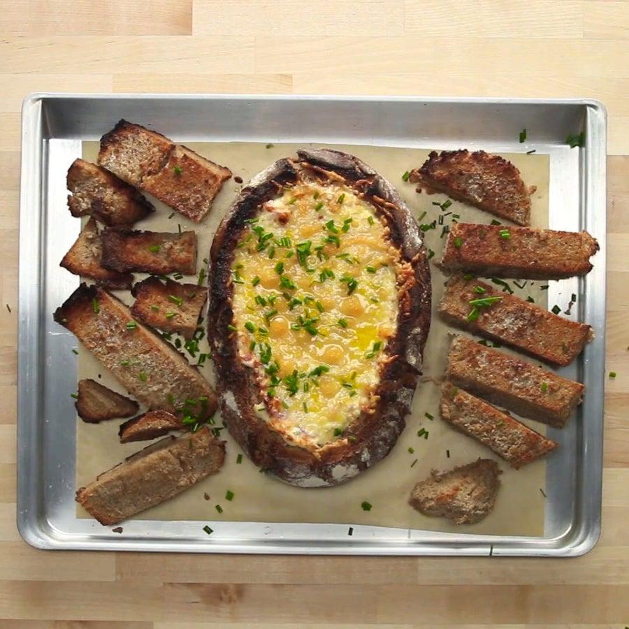 Flammkuchen Bread Bowl