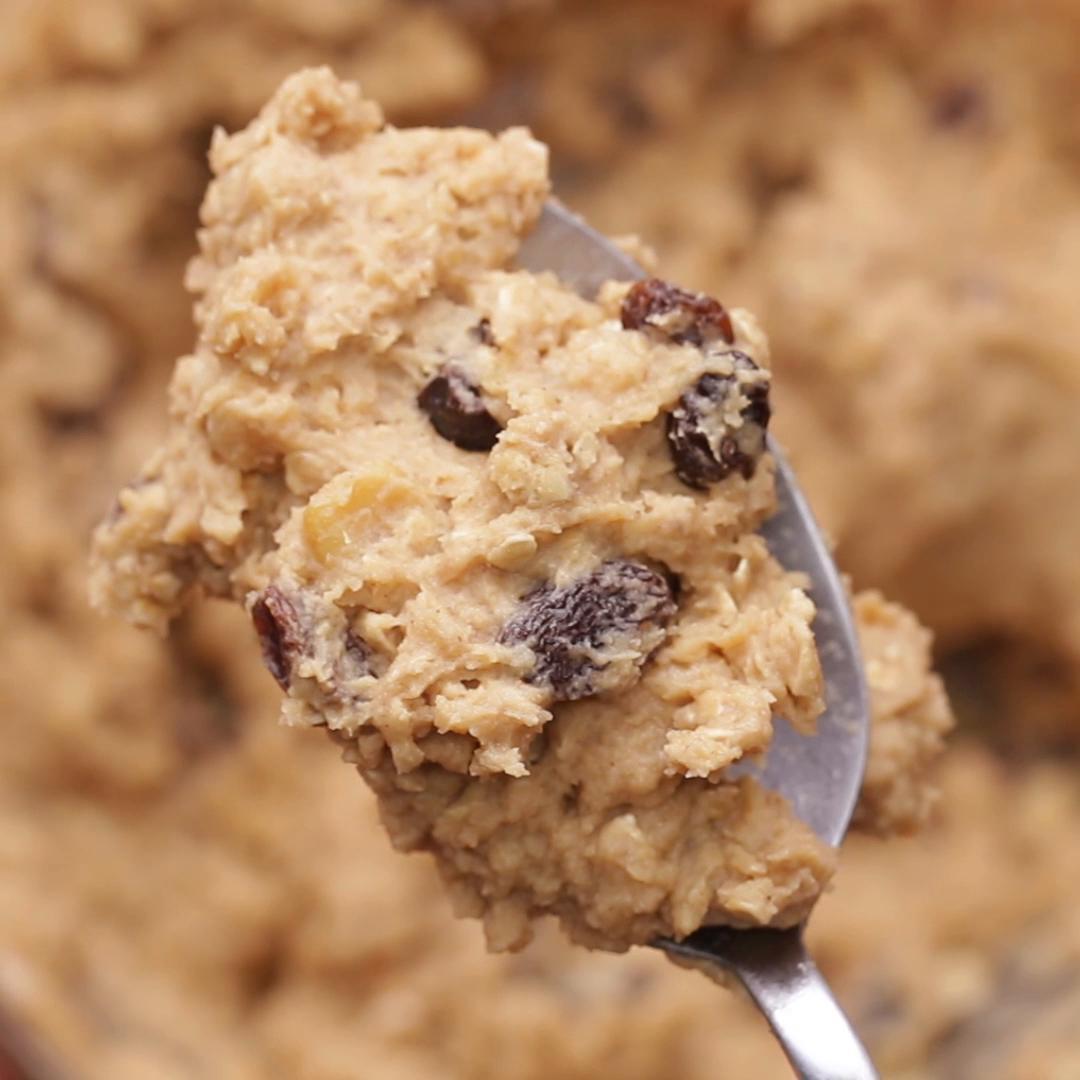 Oatmeal Raisin Chickpea Cookie Dough