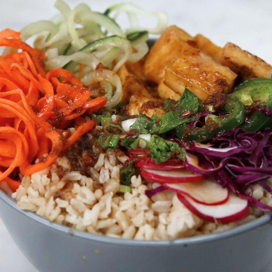 Bánh Mì Bowl With Crispy Tofu