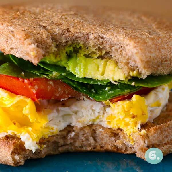 Microwaved Egg Breakfast Sandwich Recipe By Tasty