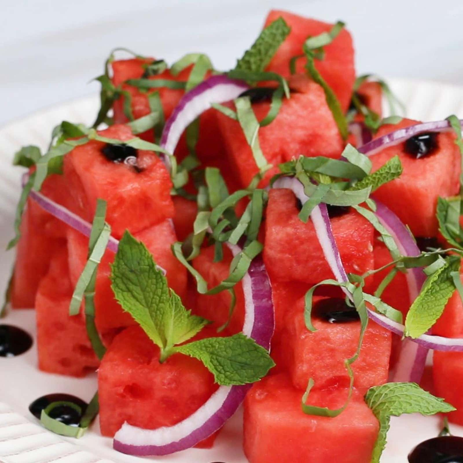 Watermelon Salad With Fresh Herbs