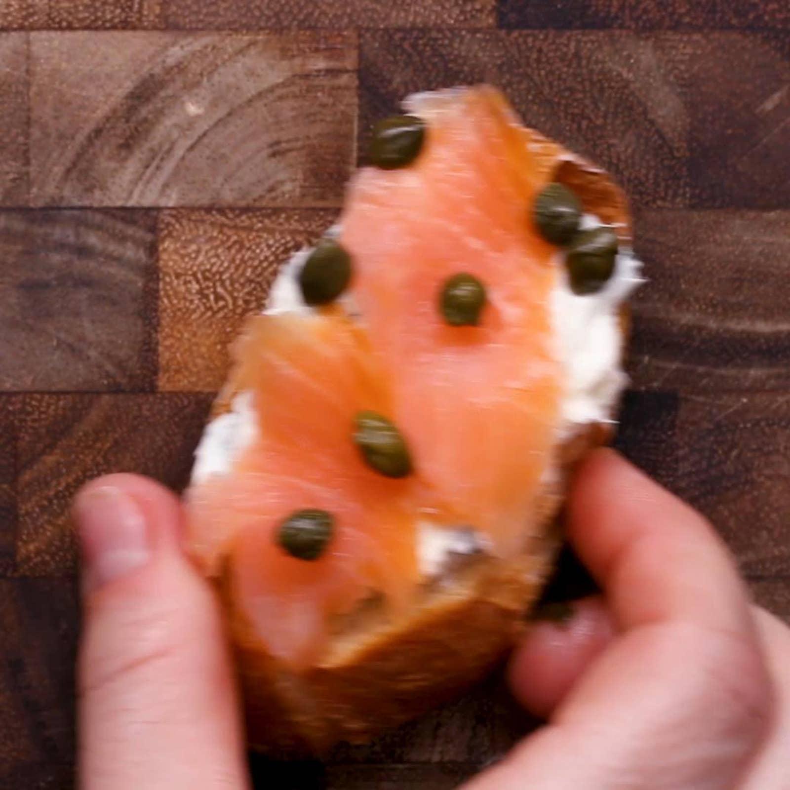Lox And Cream Cheese Crostini