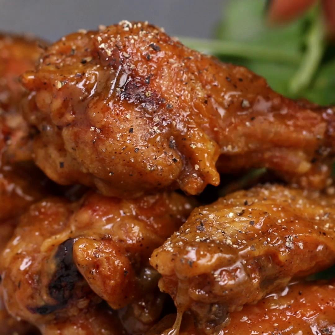 Baked chicken wings 4 ways recipes baked honey mustard wings forumfinder Choice Image