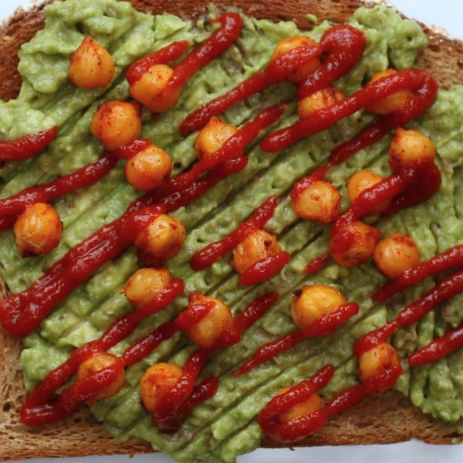 Avocado And Roasted Chickpea Toast