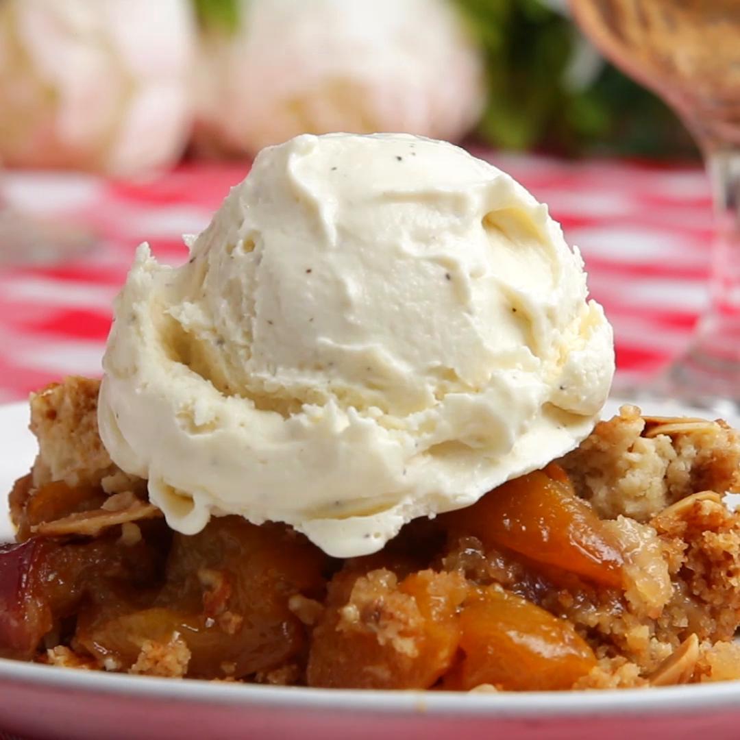 Peach Skillet Cobbler Recipe by Tasty image