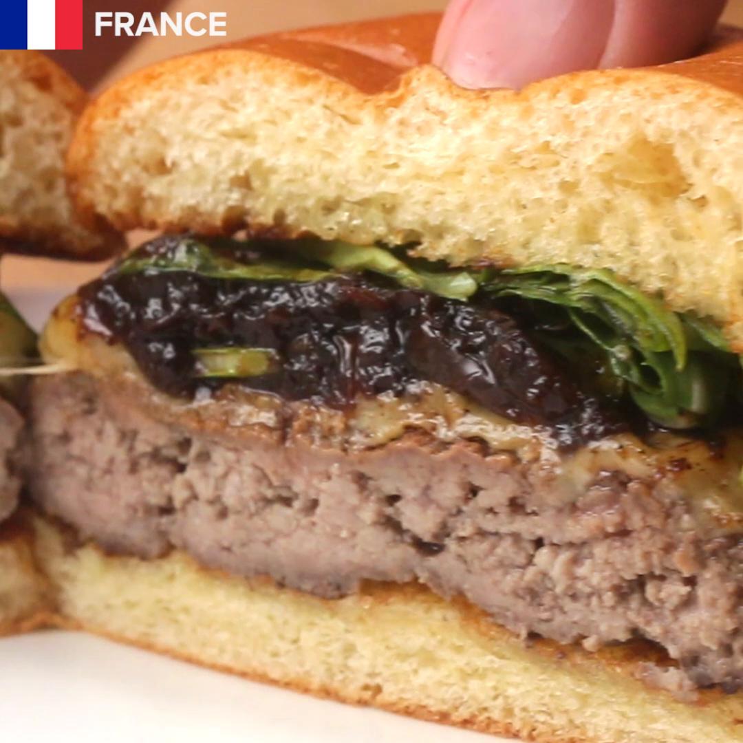 Znalezione obrazy dla zapytania French Onion Burger tasty