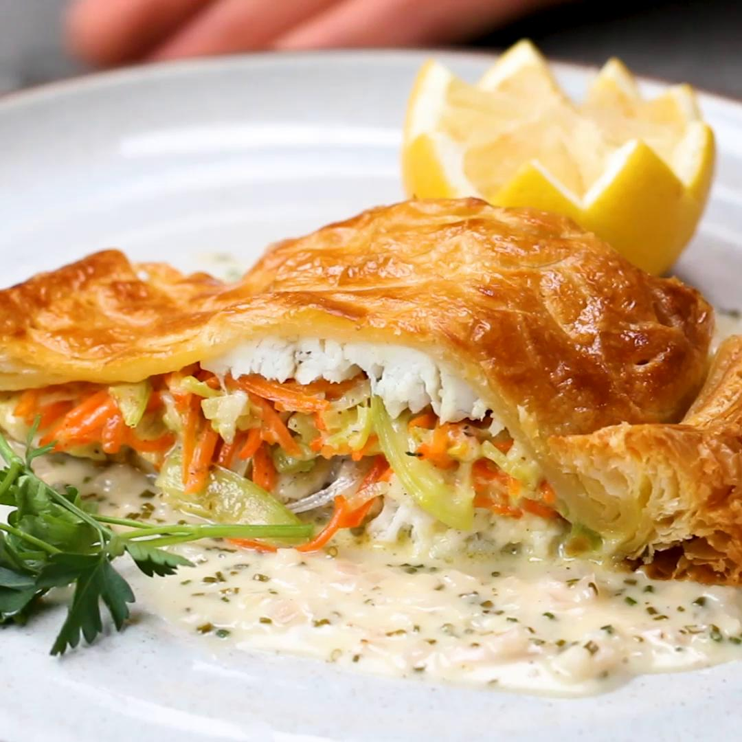 Wolfgang Puck S Sea Bass In Puff Pastry Recipe By Tasty