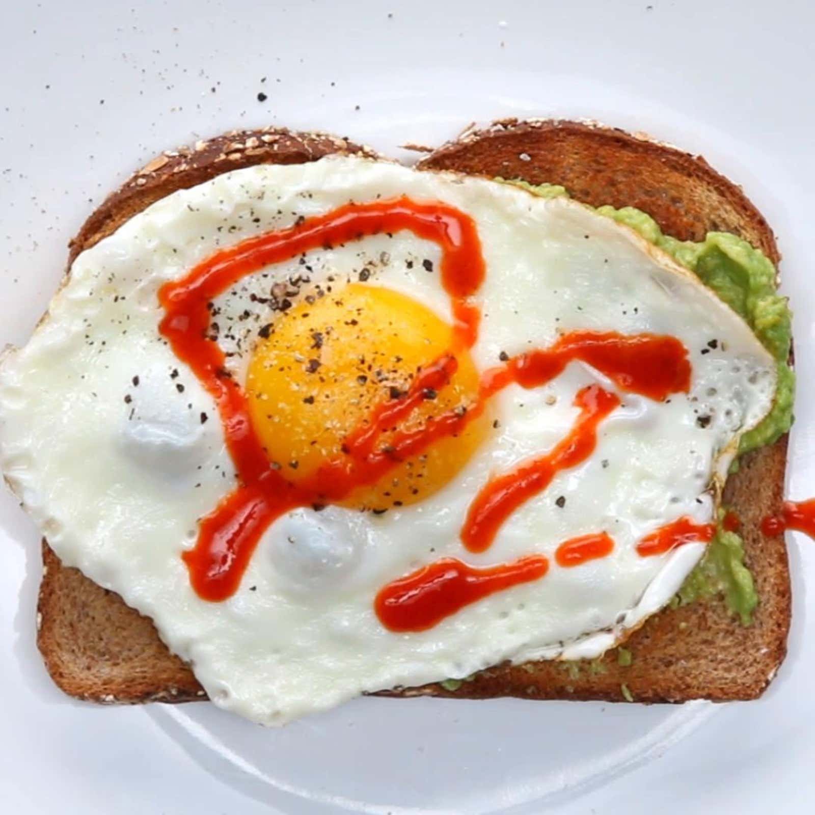 Spicy Fried Egg Avocado Toast