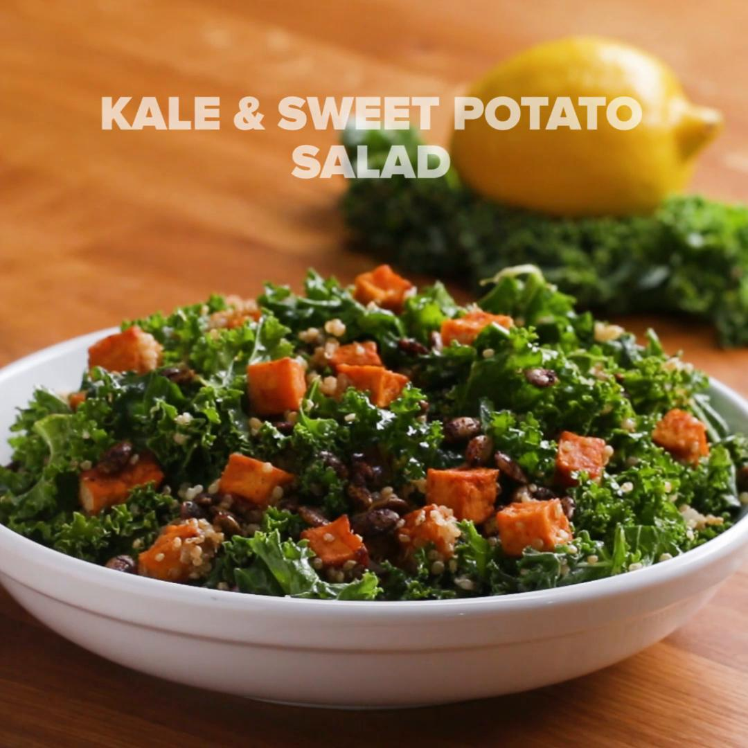Kale Sweet Potato Salad Recipe By Tasty