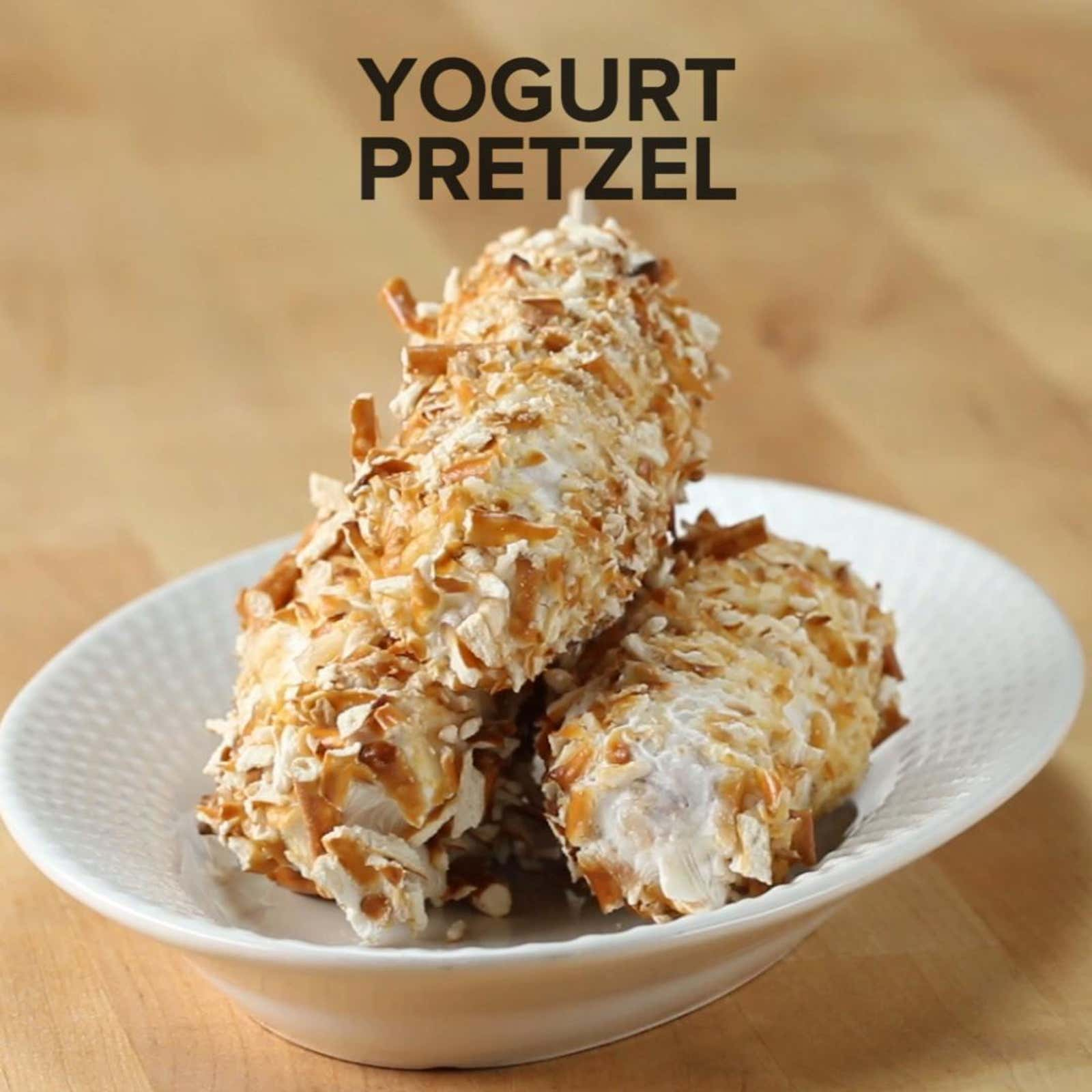 Yogurt Pretzel Frozen Banana