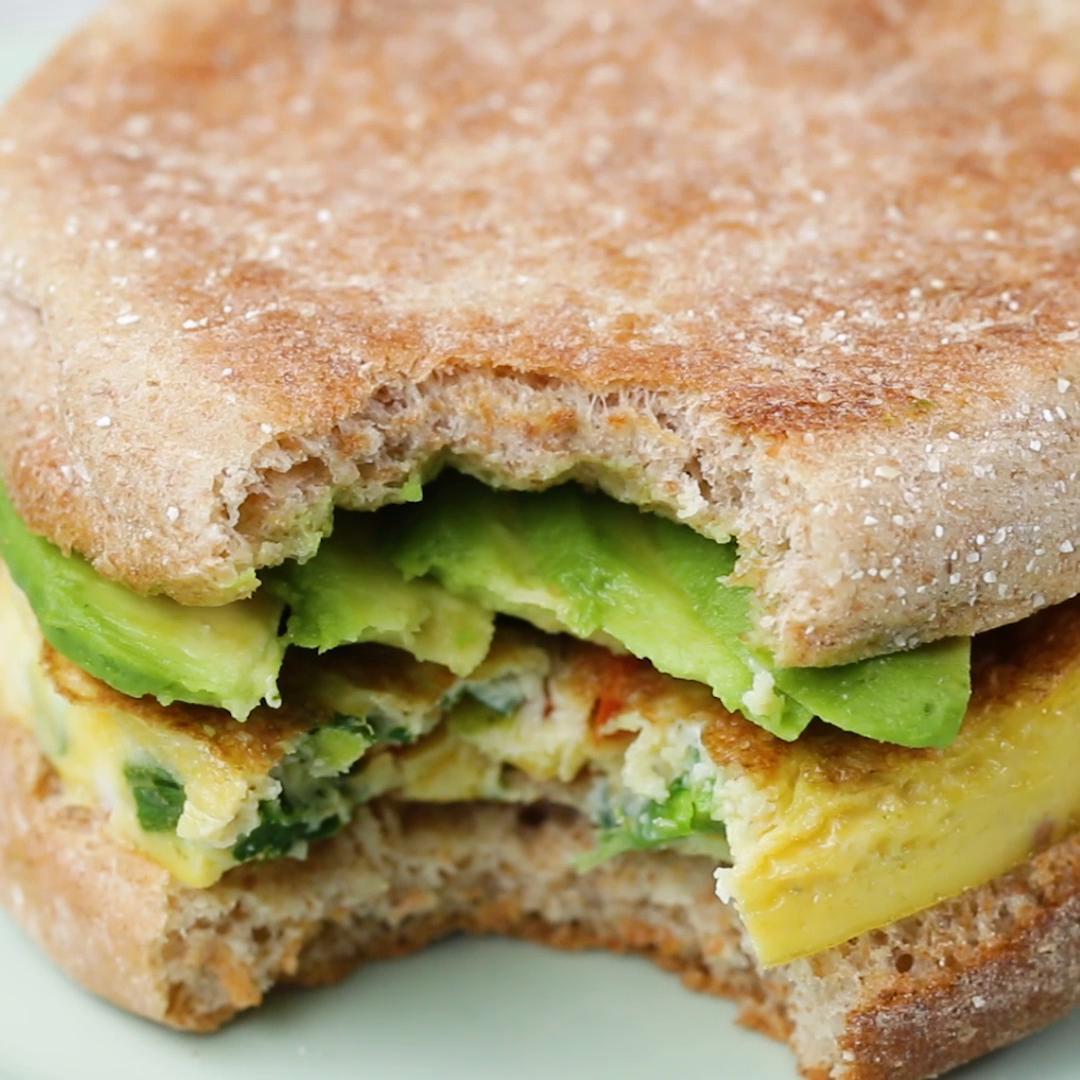 Healthy Breakfast Sandwich Recipe By Tasty