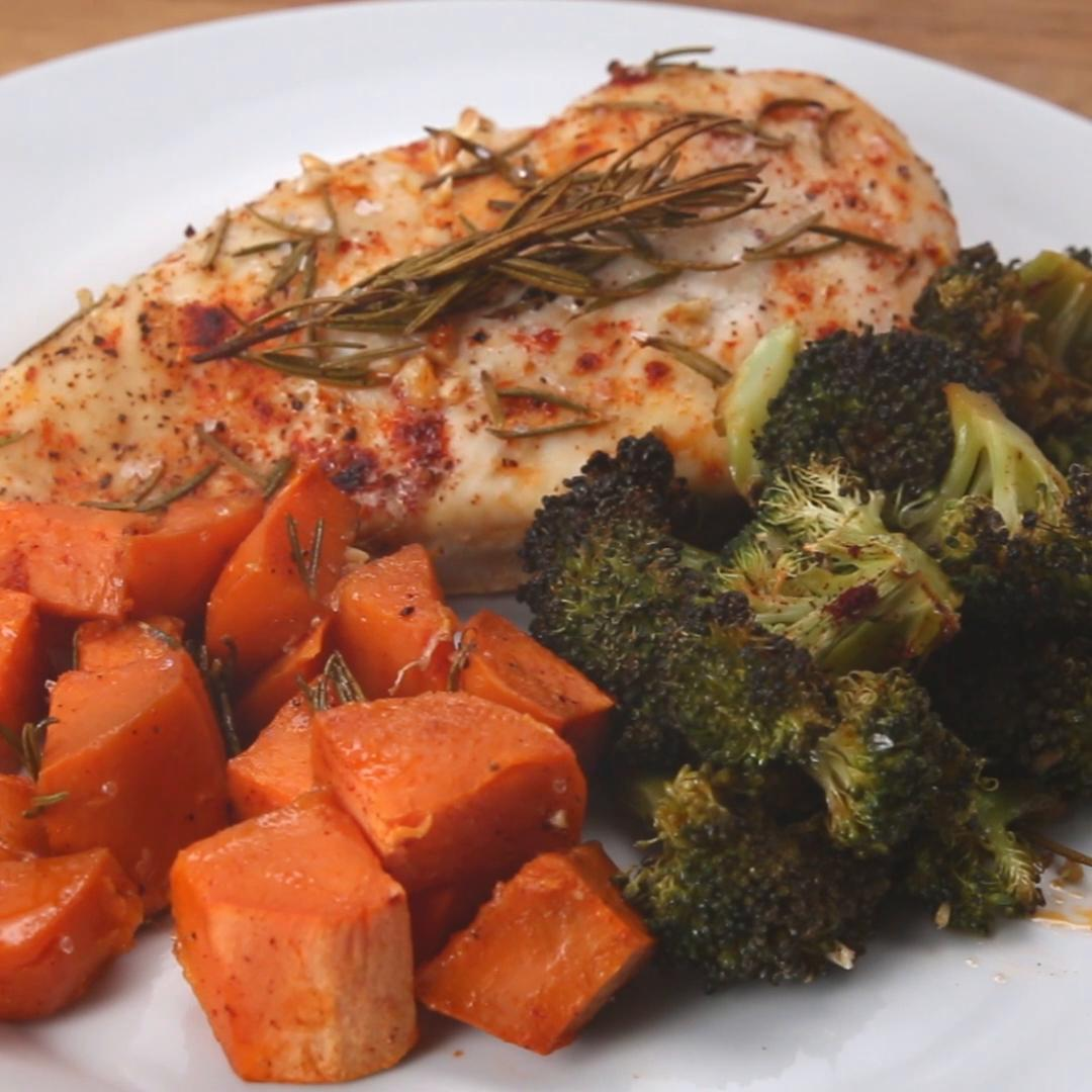 One Pan Chicken And Veggies Recipe By Tasty-9606