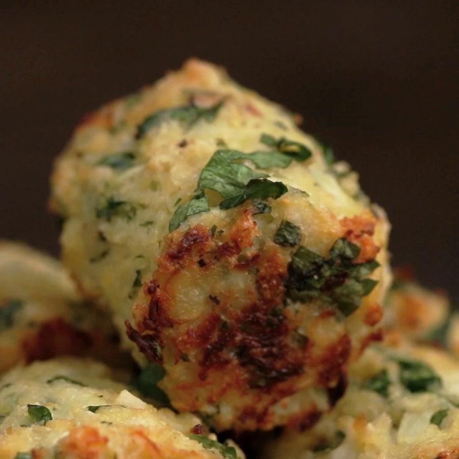 Healthy Cauliflower Parmesan Tots