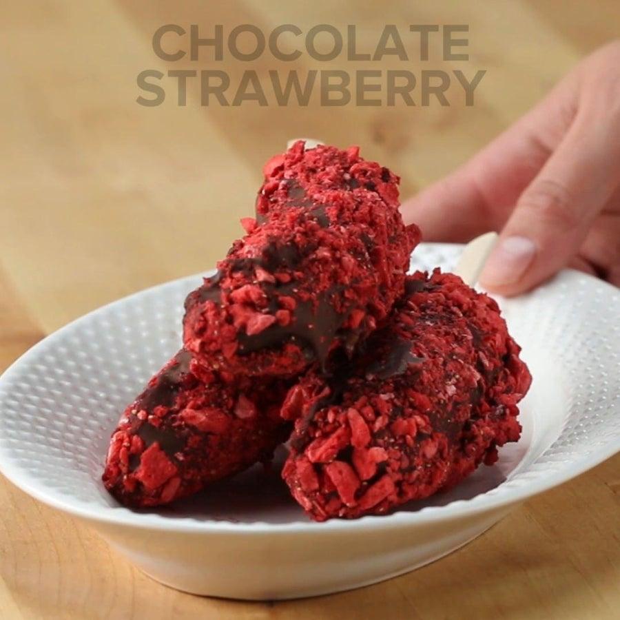 Chocolate Strawberry Frozen Banana