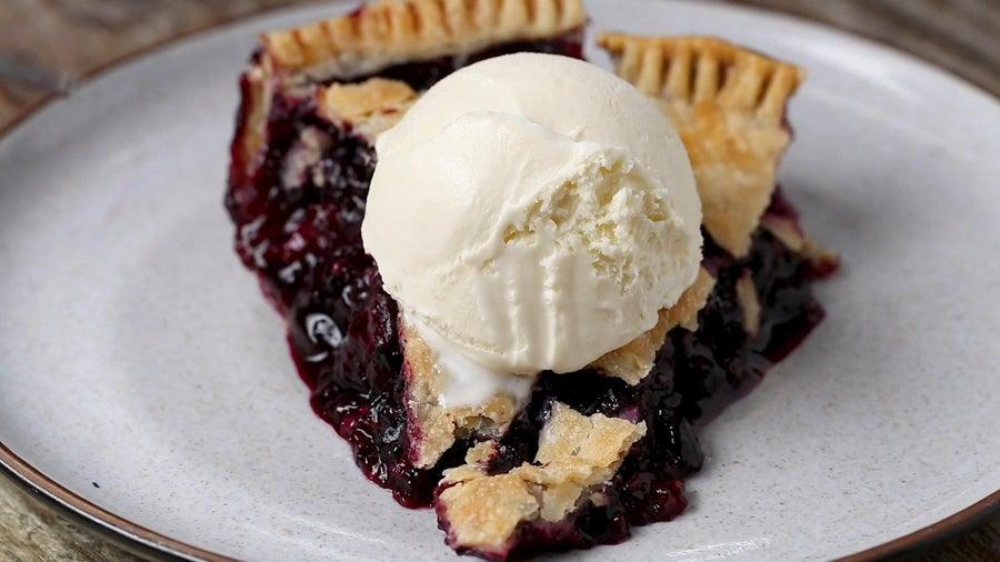 Blueberry Tapioca Pie