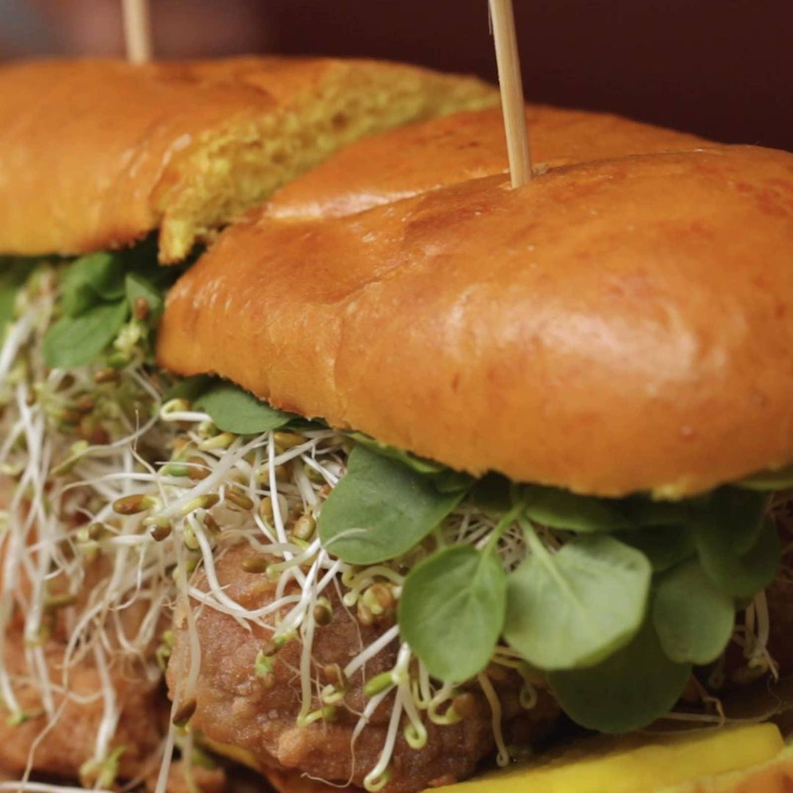 Golden Chicken Sandwich As Made By Chef Kuniko Yagi