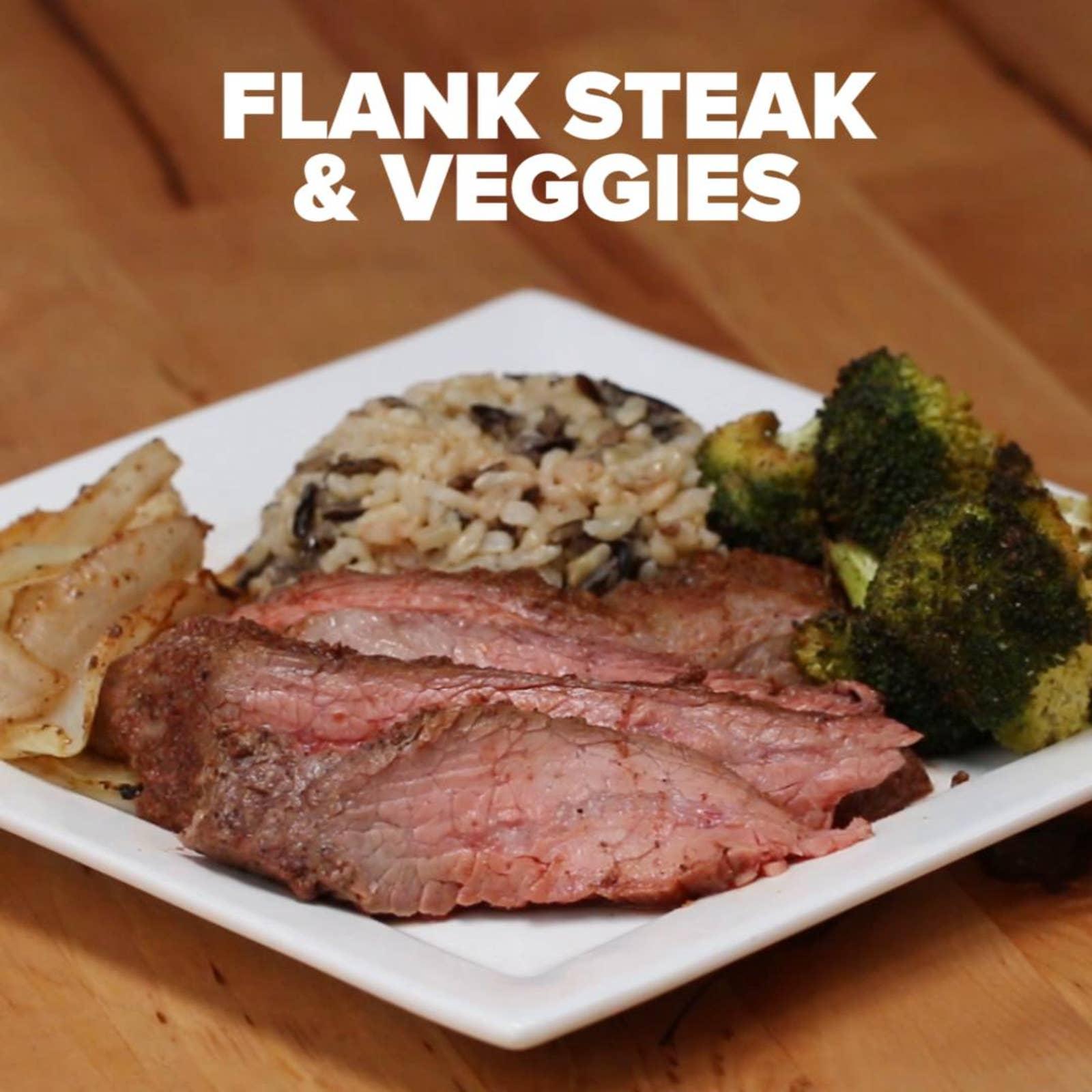 One-pan Flank Steak & Veggies