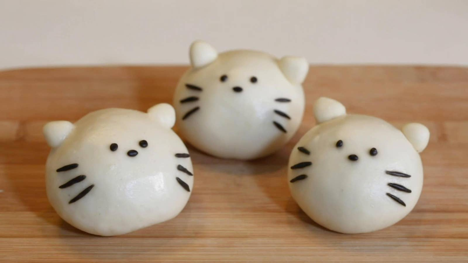Cat-Shaped Pork Buns
