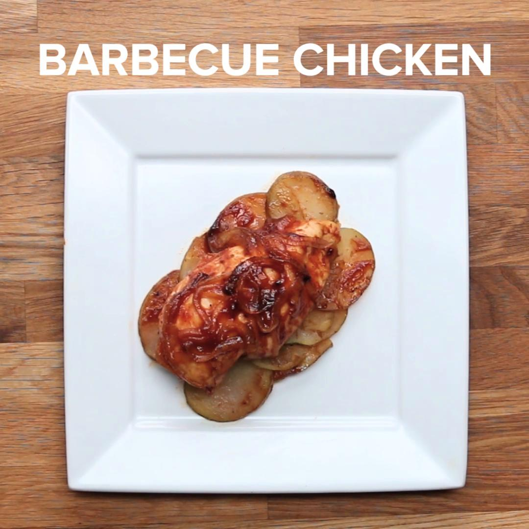 Barbecue Parchment Baked Chicken Recipe By Tasty
