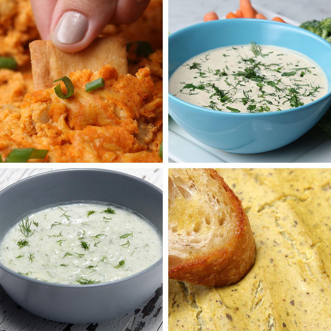 Vegan Dips 4 Ways Recipes
