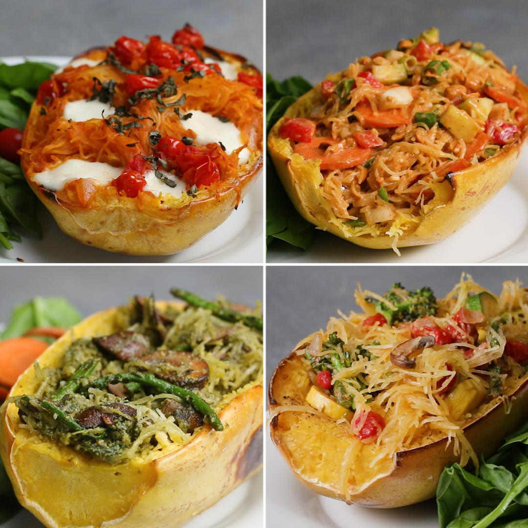 Spaghetti Squash 4 Ways