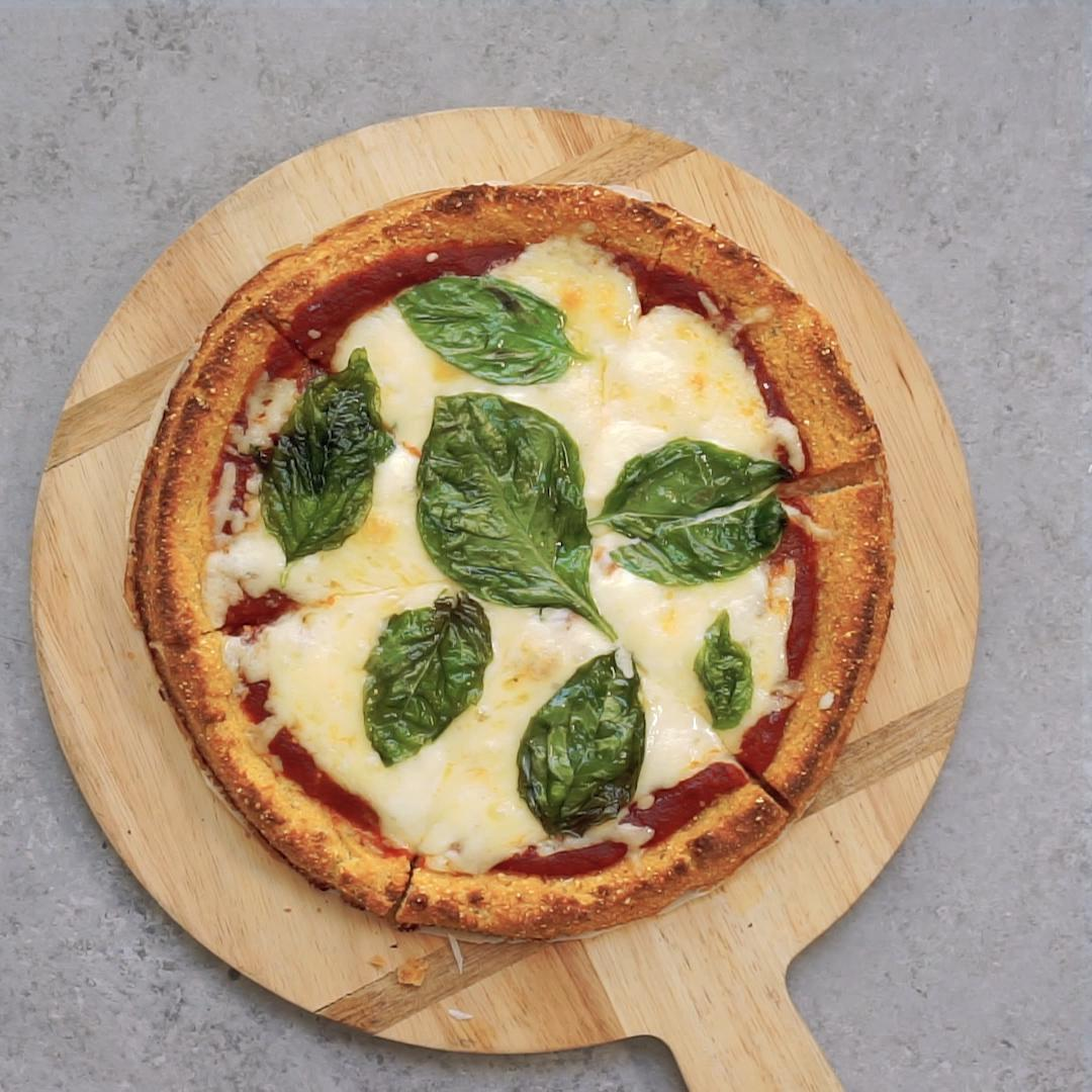 Cauliflower Pizza Crust Recipe By Tasty