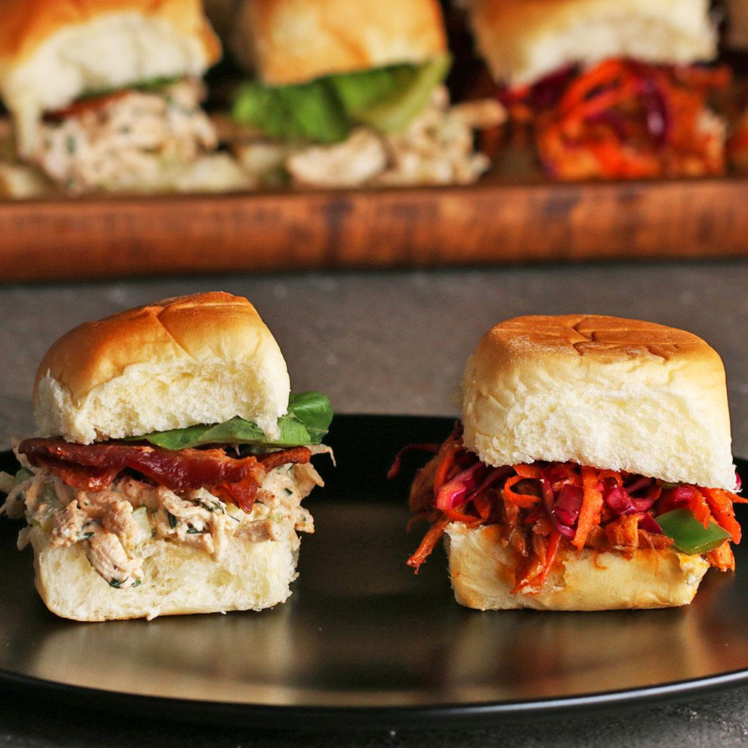 Bbq Pulled Chicken Sliders Recipe By Tasty