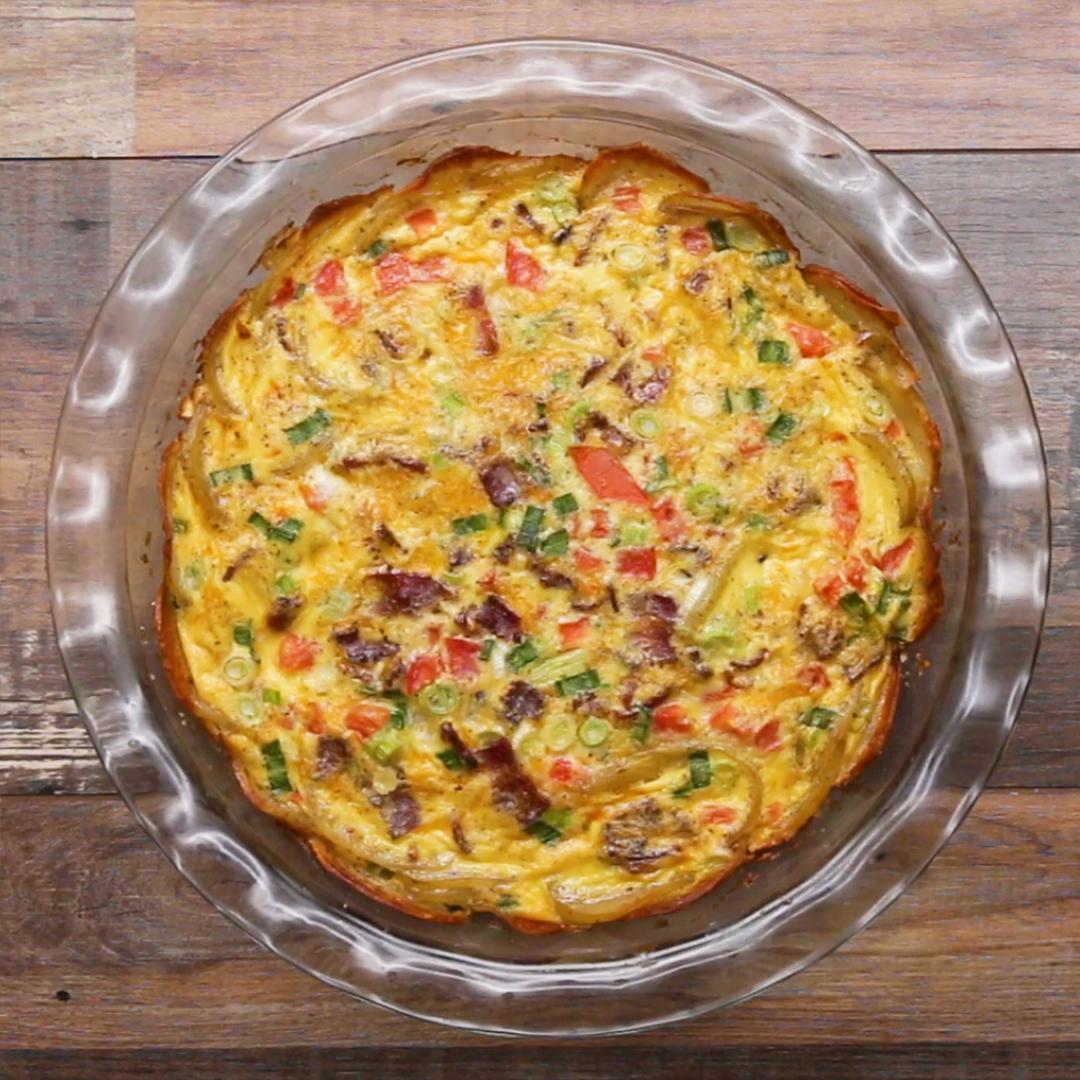 Potato-Crusted Quiche Recipe by Tasty image