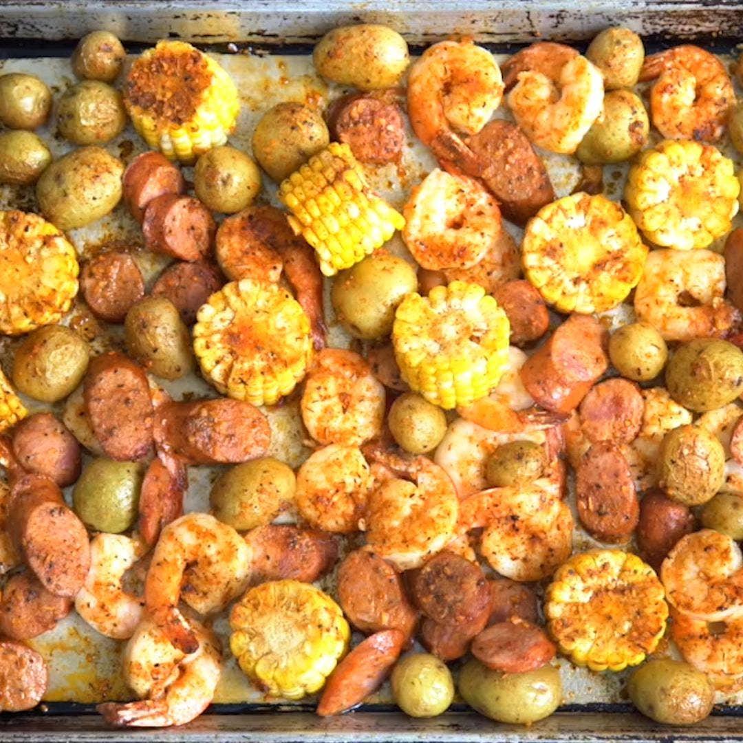 Sheet Pan Shrimp Boil Recipe By Tasty