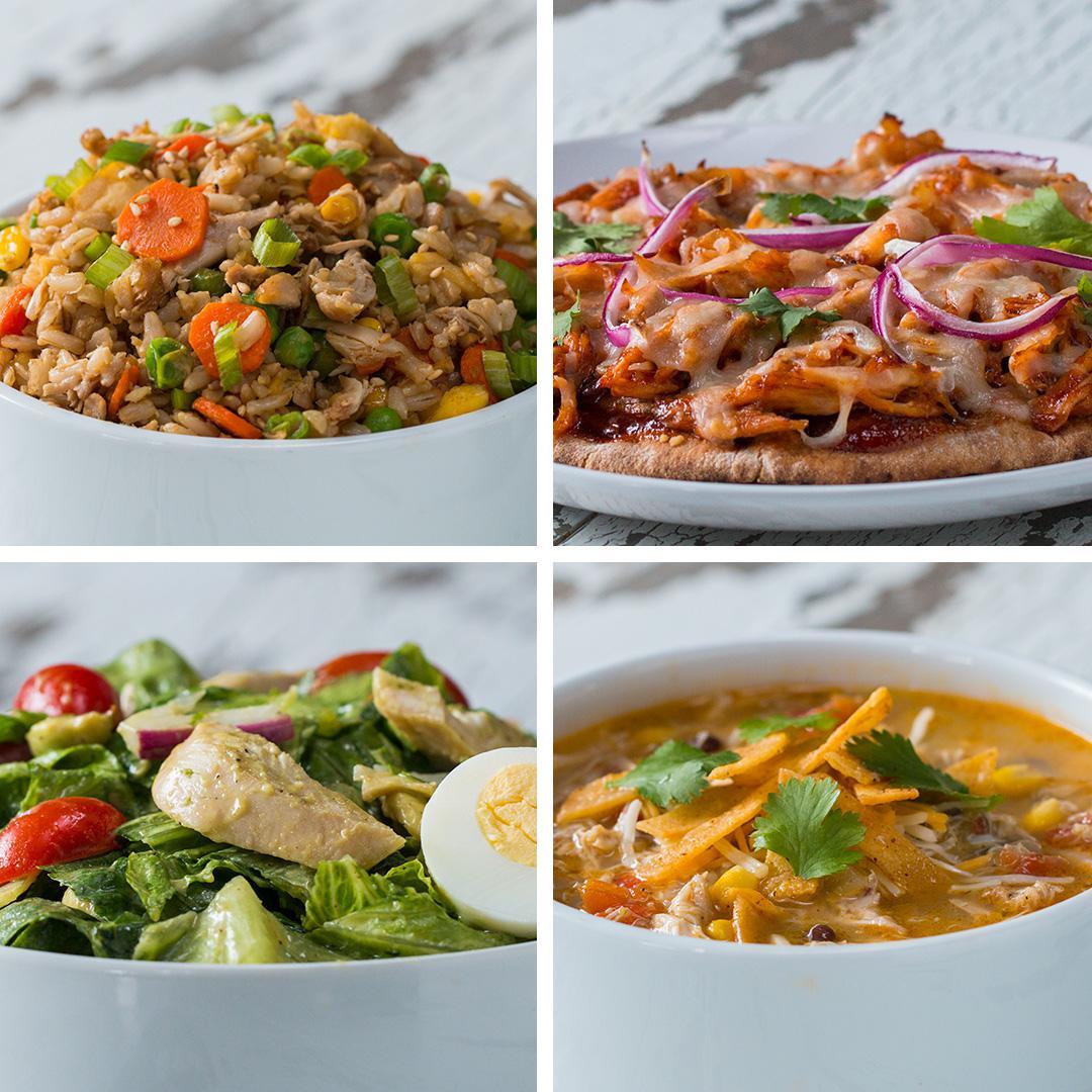 Good Dinner Recipes For 4: 1 Rotisserie Chicken, 4 Meals