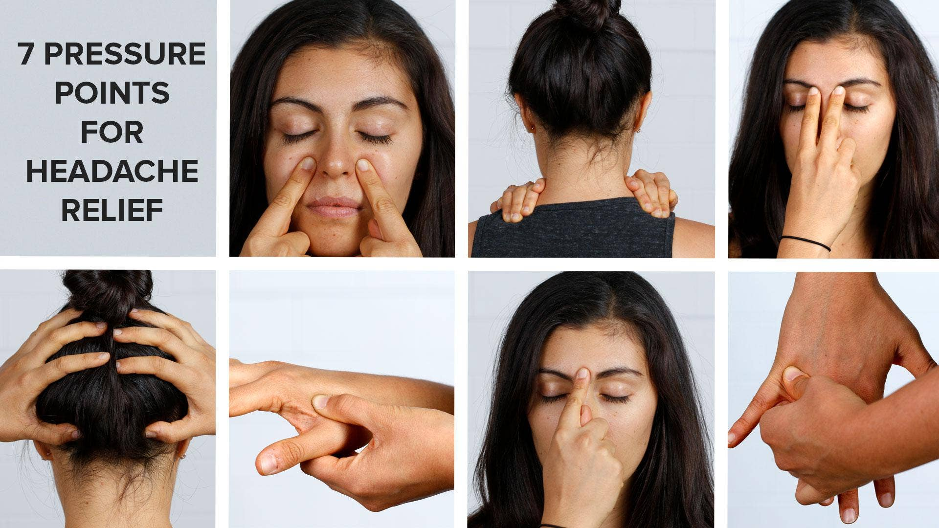 7 pressure points to relieve your headache