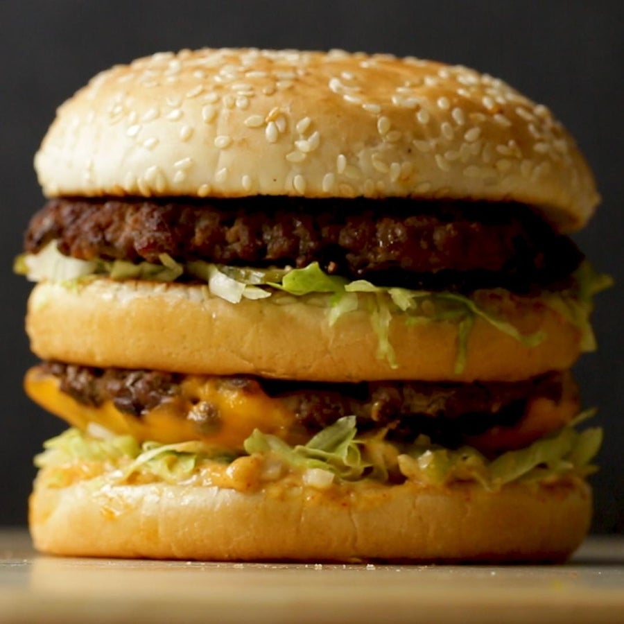 Homemade Big Massive Burger
