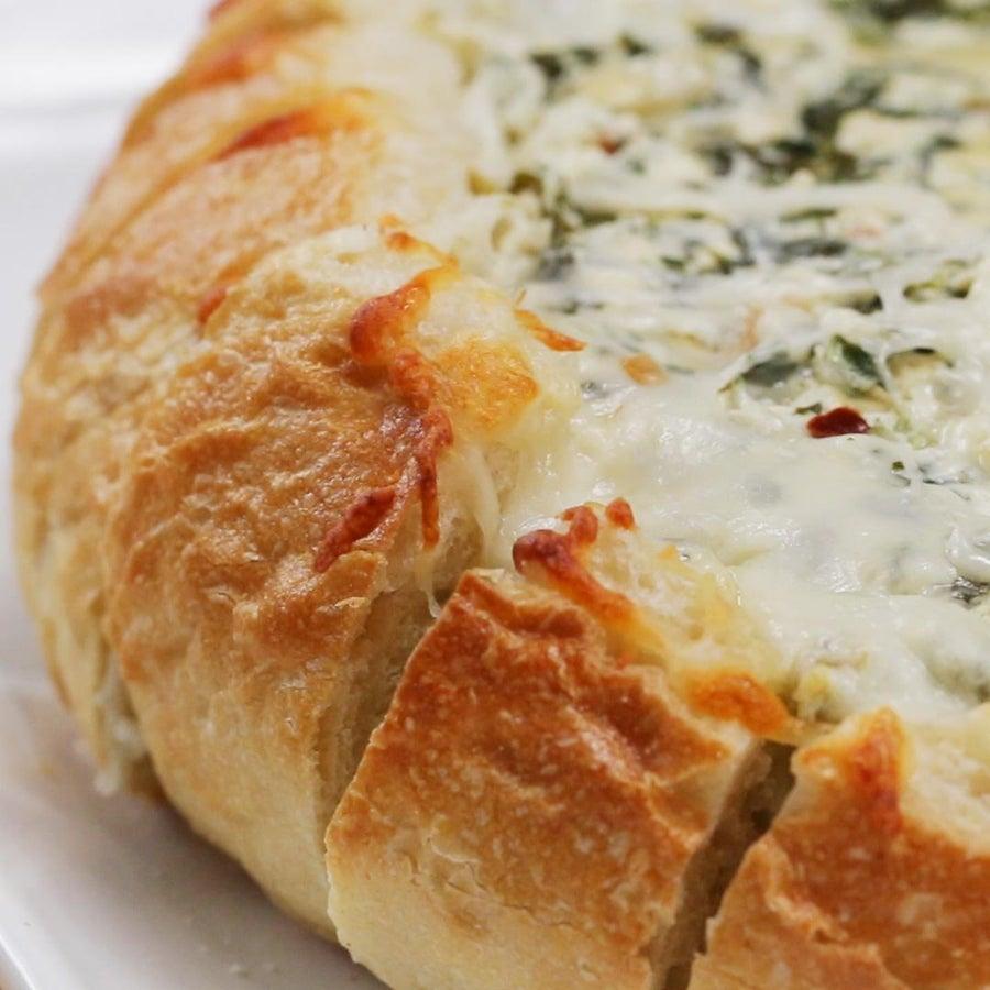 Spinach Artichoke Pull-apart Bread-bowl