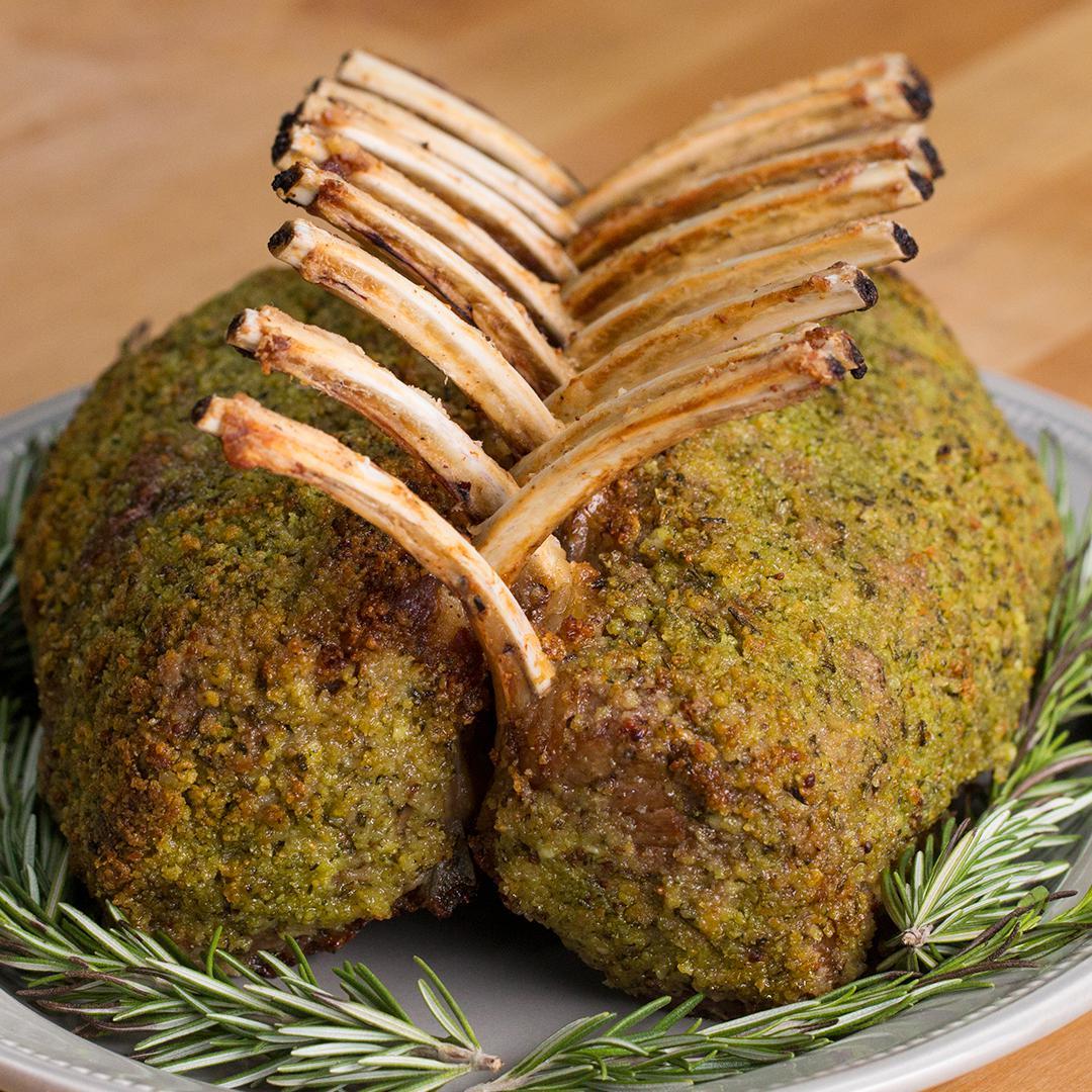 Garlic Herb Crusted Roast Rack Of Lamb Recipe by Tasty image