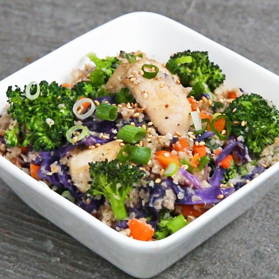Teriyaki Chicken Cauliflower Rice Bowl
