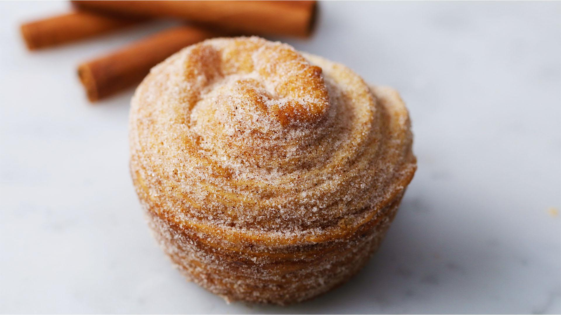 Churro Puff Pastry Muffin Recipe by Tasty image