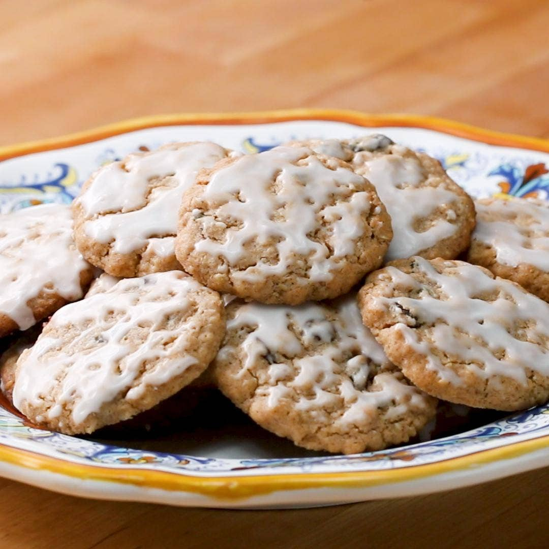 Iced Oatmeal Cookies Recipe By Tasty