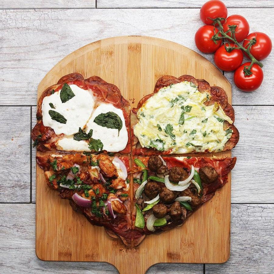 Heart-Shaped Scalloped Potato–Crust Pizza