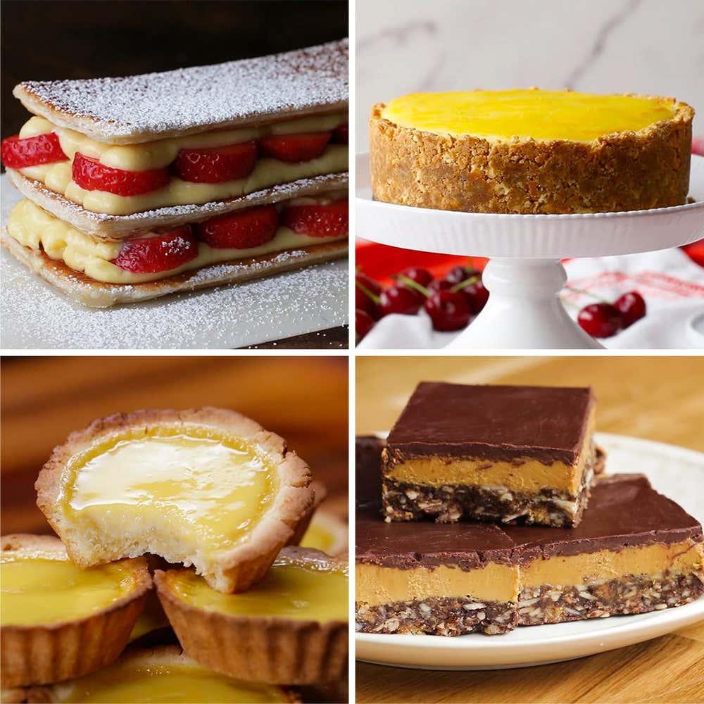 5 Creamy Custard-Filled Desserts
