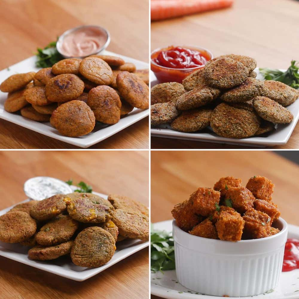 Healthy Veggie Nuggets 4 Ways
