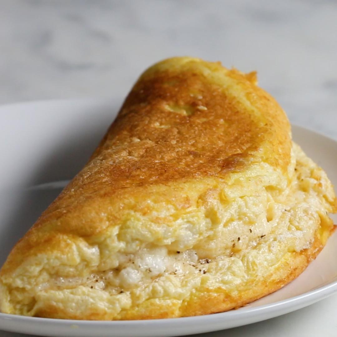 Super Fluffy Omelet Recipe By Tasty