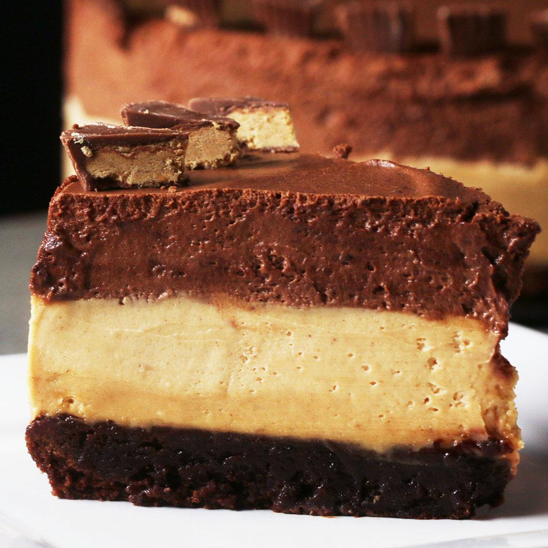 Chocolate Peanut Butter Mousse Box Cake Recipe By Tasty