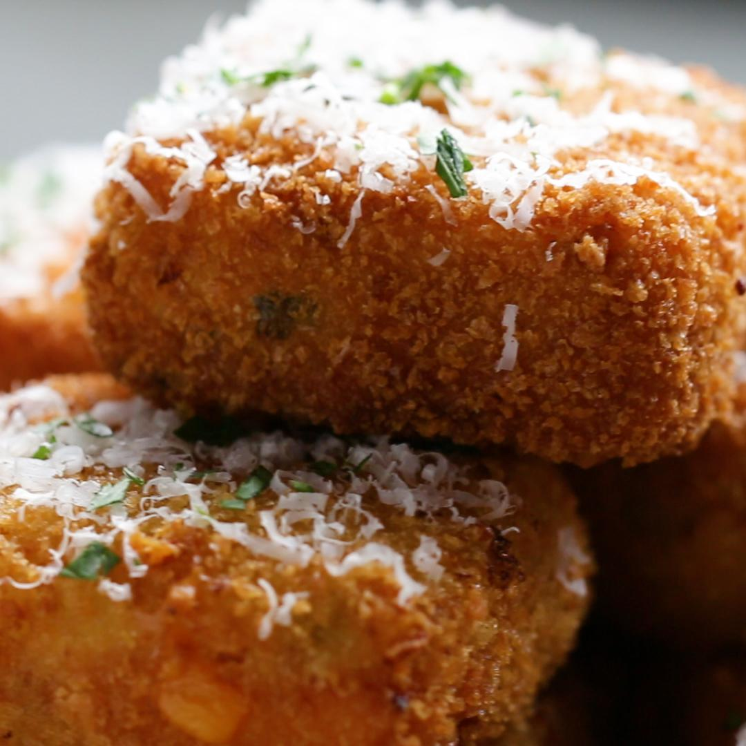 Loaded Ham & Cheese Potato Dippers Recipe by Tasty