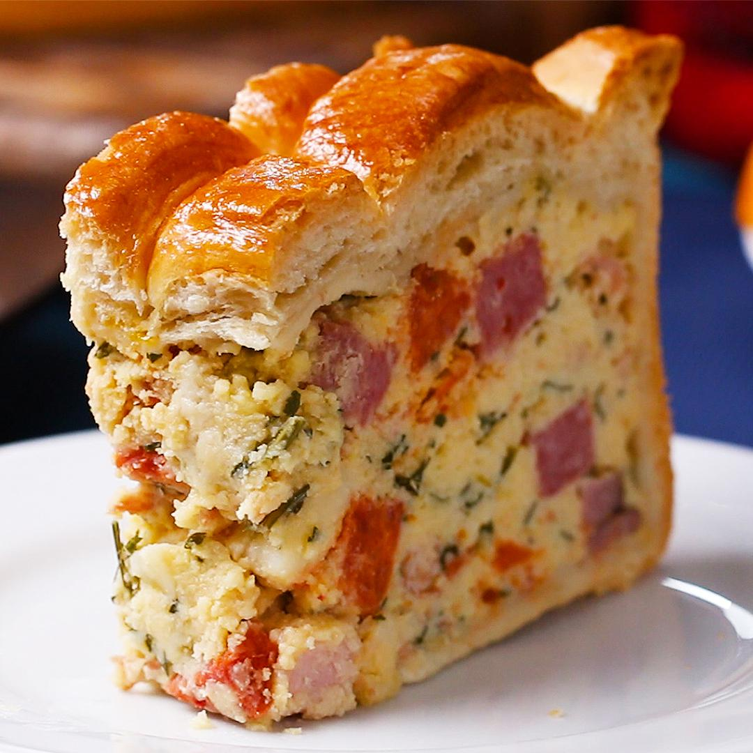 Easter Savory Pie Pizza Rustica Recipe By Tasty