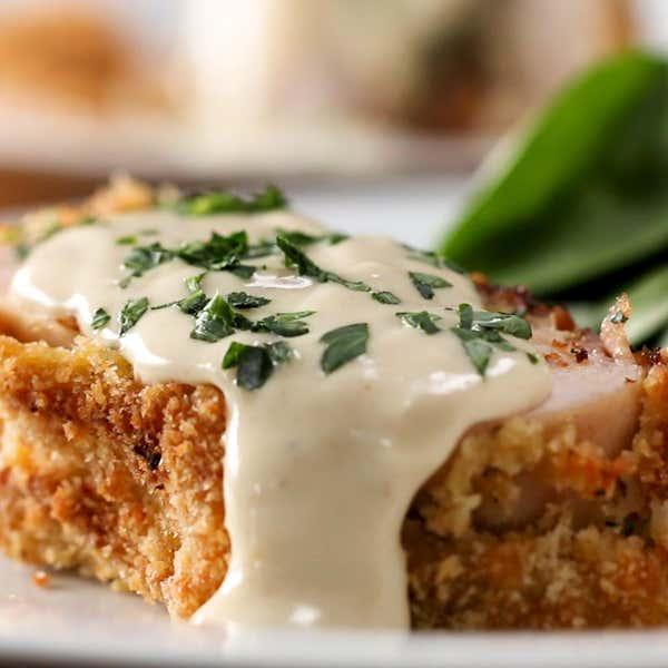 Crispy Creamy Chicken Cordon Bleu Recipe By Tasty