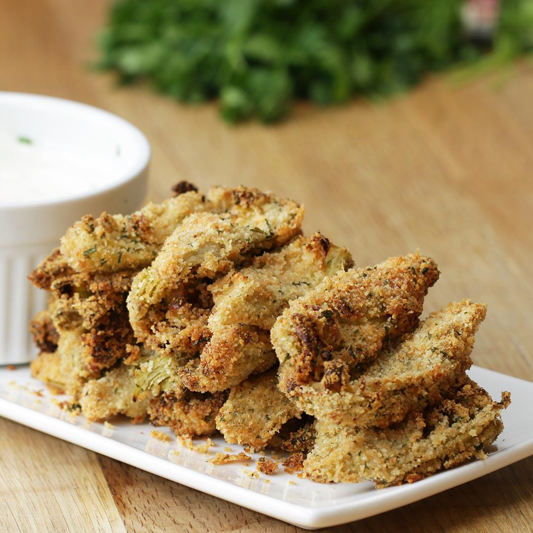 Baked Artichoke Bites With Garlic Aioli Recipe by Tasty image