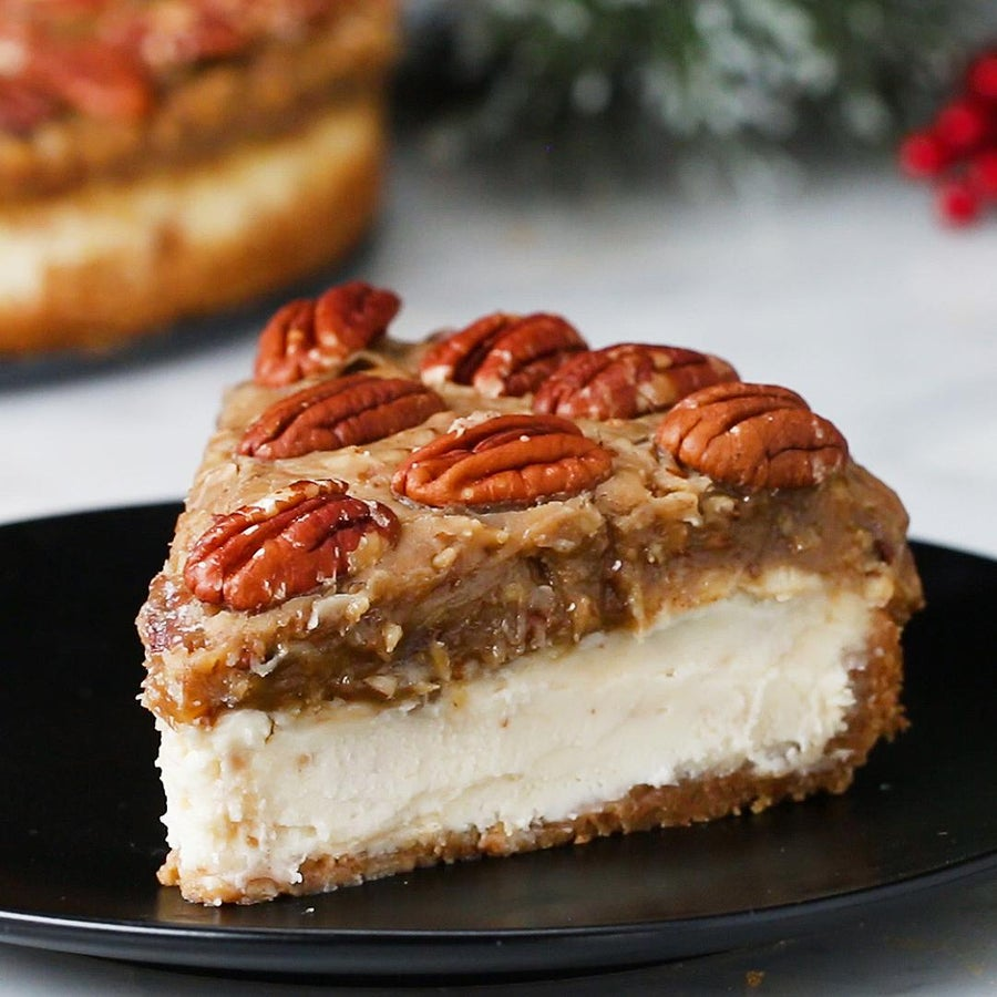 Kentucky Derby Pecan Pie Cheesecake