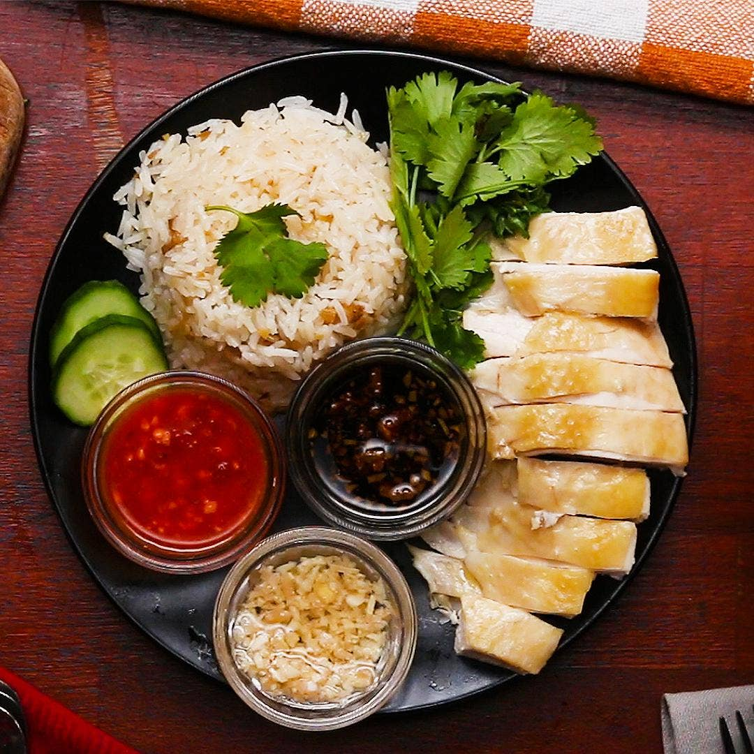 Hainanese Chicken Rice Recipe By Tasty