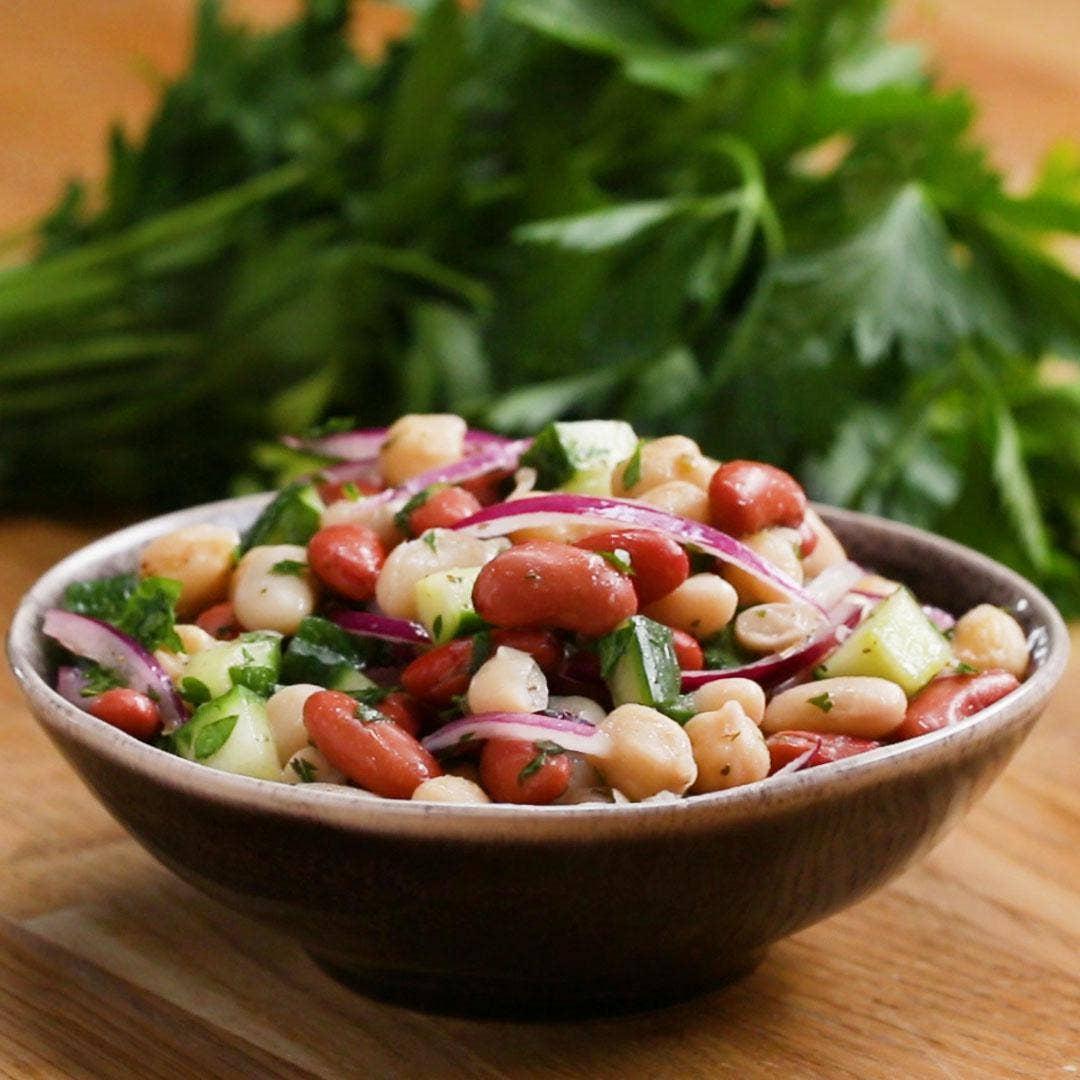 3 Bean Salad Recipe Vegan