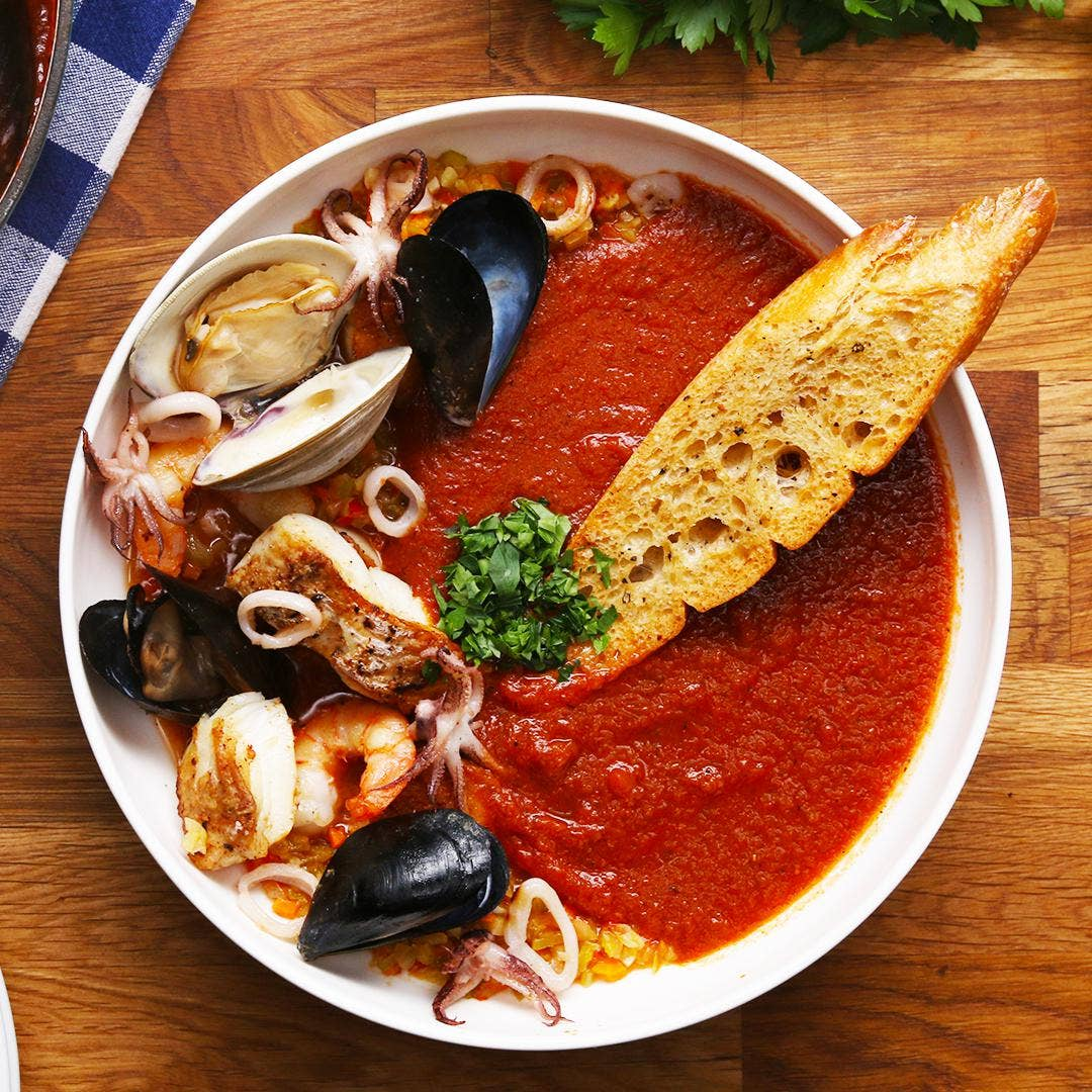Cioppino Seafood Tomato Stew Recipe By Tasty